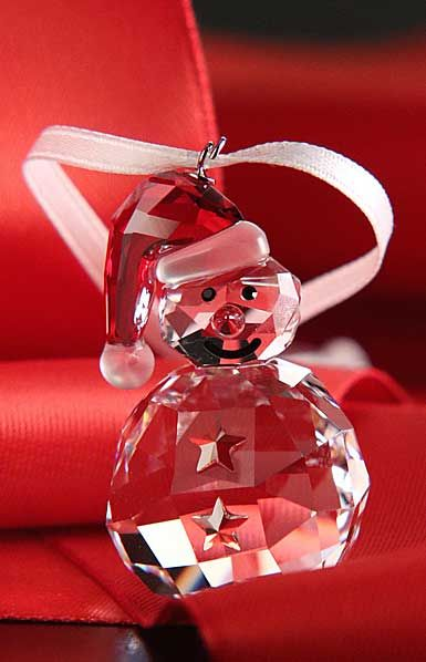 Swarovski 2015 Rocking Snowman Ornament