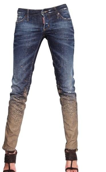 DSquared2 Mud Effect Super Slim Denim Jeans http://www.luisaviaroma.com/productid/itemcode/55I-AGF005