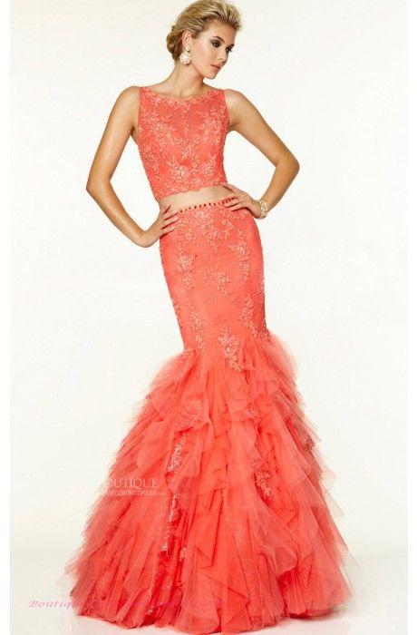 Mermaid/Trumpet Tulle Jewel Mango Prom Dresses