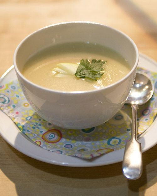 Celery Root and Ginger Gold Apple Soup - Martha Stewart Recipes