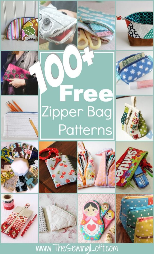 100+ Free Zipper Bag Patterns Rounded Up in one place. Lots of easy projects for beginners and those learning to sew, but we can all enjoy sewing these free zipper bag and pouch sewing patterns. The Sewing Loft