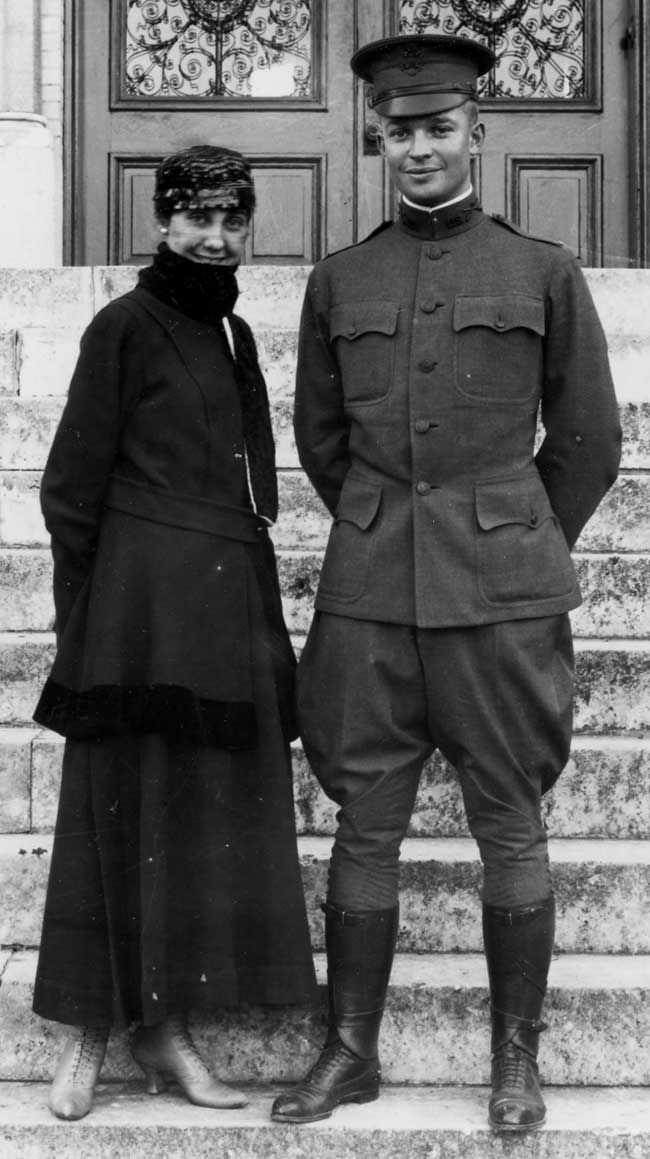 Young Eisenhower with his wife Mamie, San Antonio, TX, 1916