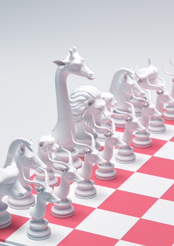 Chess Pieces by MountStar , via Behance