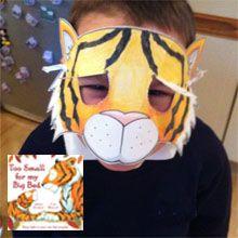 Make a Sleepy Tiger Cub Mask based on Layn Marlow's book