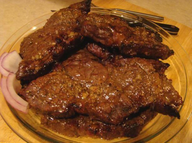 Grilled Chuck Steak Recipe - Food.com - DELICIOUS marinade!