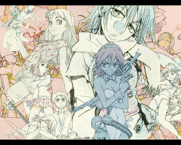 Download FLCL collage (1280x1024) Minitokyo