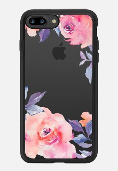 Casetify iPhone 7 Plus Classic Grip Case - Cute Watercolor Flowers Purples… #iphone7pluscase #iphoneaccessories,