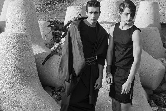LEFT Coat: He-m-n-oid, Taffeta dress: Dido, Leather belt: Aumorfia. RIGHT…