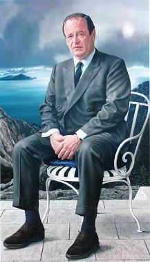 """""""Portret van de heer H. (Portrait of Mr. H.)"""", 1969-1970 / Carel Willink (1900-1983) / Private Collection.Freddy Heineken."""