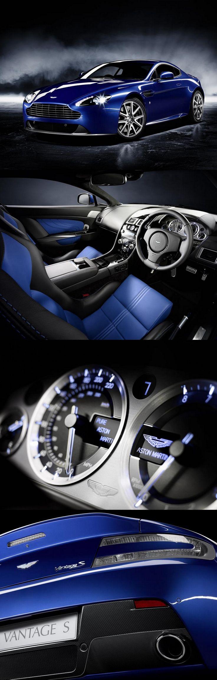 aston martin vantage sport v8 blue carsaston