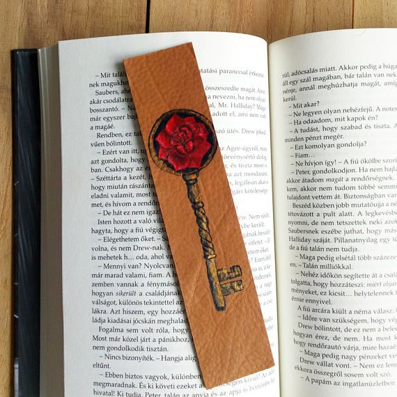 Dark Tower bookmark Stephen King leather bookmark Rose