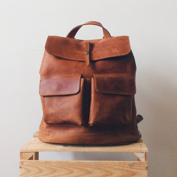 HandMade LEATHER BACKPACK  / Citi Backpack / Handcrafted