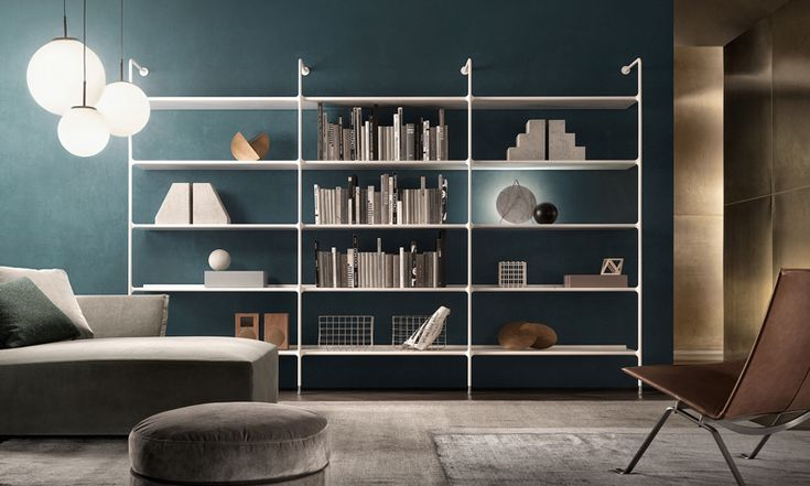 structure and shelves in matt bianco latte.