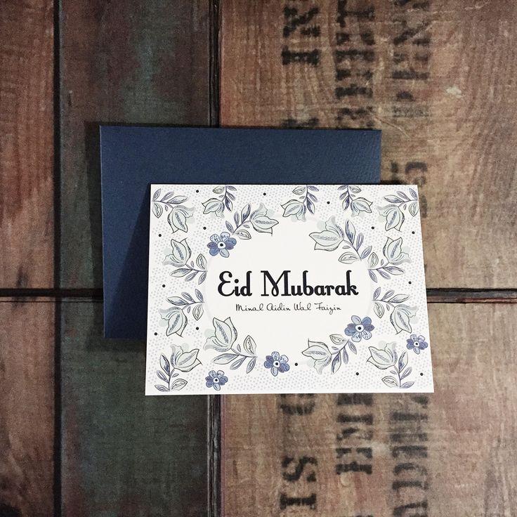 Eid Mubarak greeting cards #grensipapergoods