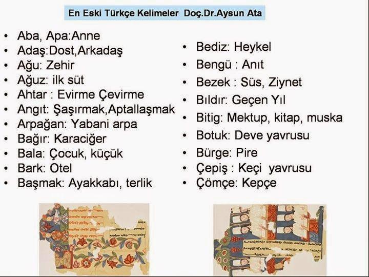 En Eski Türkçe Kelimeler - Ankara Üniversitesi Dergisi Yayınları