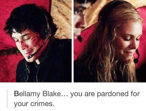 Why does Clake look just as happy as bellemy oh that right BECAUSE IT MATTERED SO MUCH TO HER THAT BELLEMY WAS SAFE THIS IS HOW U OTP
