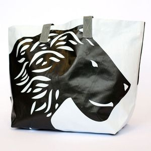 Strut around like a lion with this great Upcycled bag. $35. Cheap!