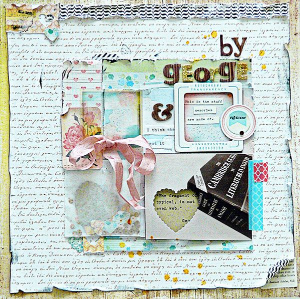 Ideas for Peek-a-Boo Elements on Layered Scrapbook Layouts    Sian Fair   Get It Scrapped