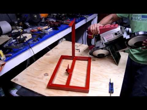 Harbor Freight portable bandsaw review and stand build part 1 - YouTube