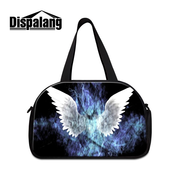 Dispalang trendy women travel luggage handbags lightning butterfly print duffle bags for girls casual weekend bag overnight bags