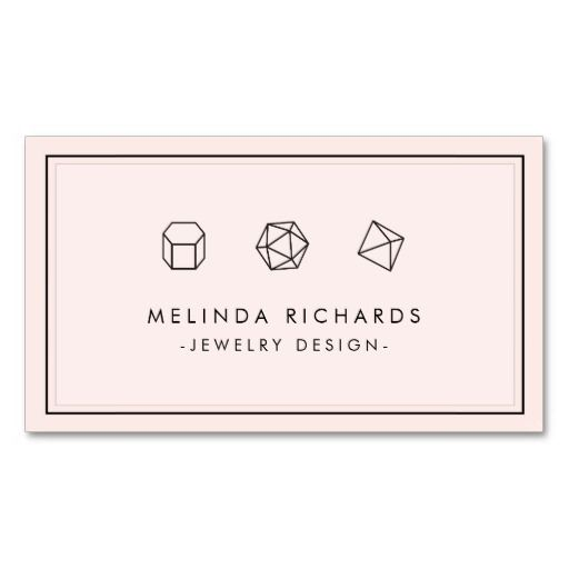 Chic and modern customizable business card template for jewelry designers or Etsy sellers.