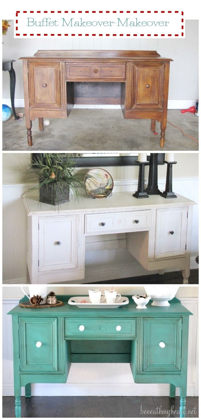 buffet transformation with Annie Sloan Florence paint