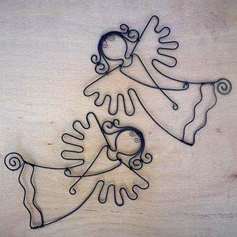 садовые фигурки ангела из проволоки своими руками