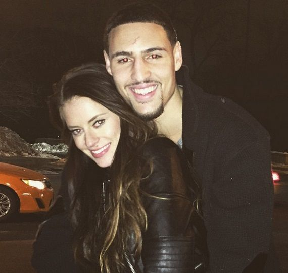 Klay Thompson girlfriend Hannah Stocking dated Kyrie Irving Kyrie Irving  #KyrieIrving