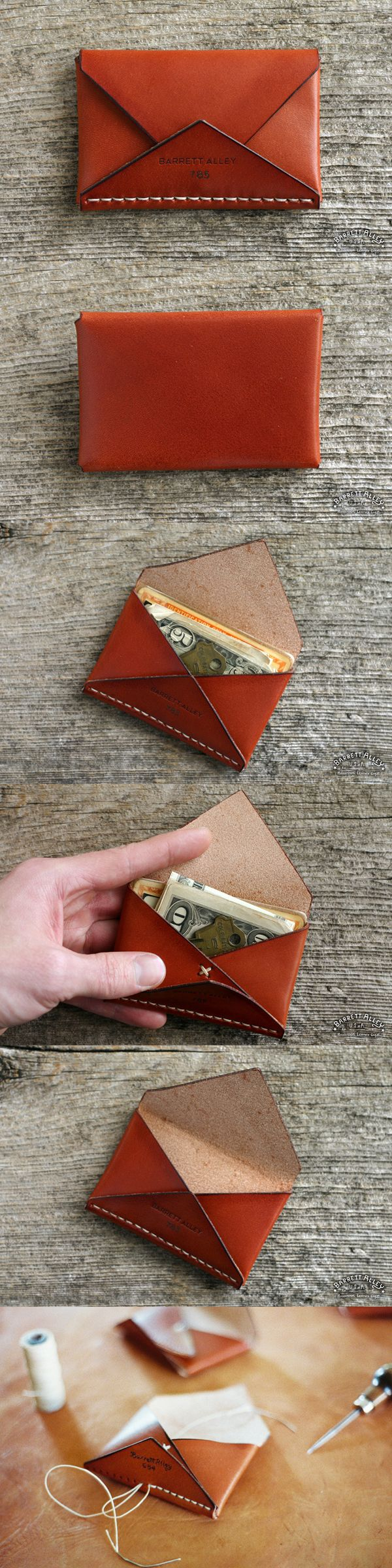 Disciple Wallet in Russet The perfect leather card holder. http://www.barrettalley.com-SR