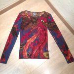 Jean-Paul Gaultier, T-Shirt mousse rouge chamarré - www.troc-choc.com