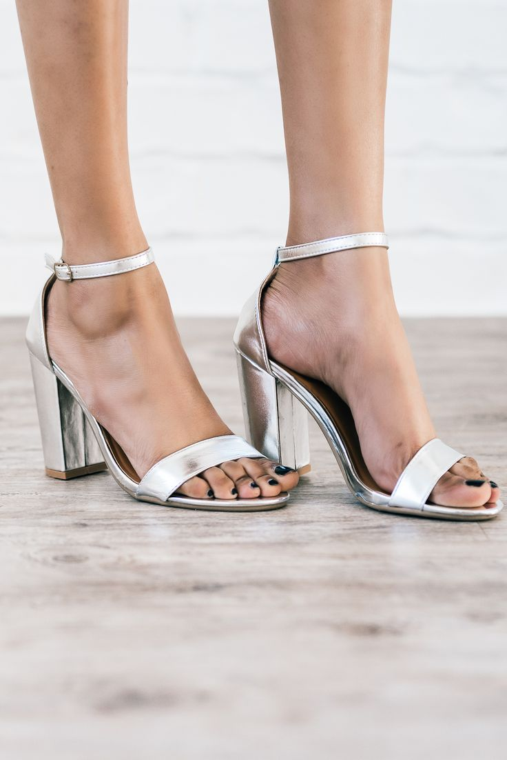 Harper Silver Strap Heel