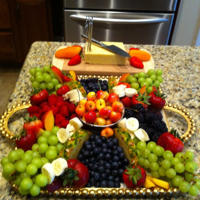 Platters That Pop!  Take your fruit to the next level.  I made this for Fathers Day!