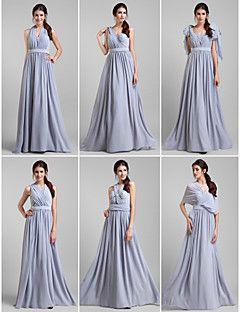 Bridesmaid Dress Floor-length Georgette Sheath/Column Dress – GBP £ 46.14