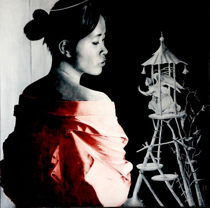 Annonciation Oil on canvas Jm salvador