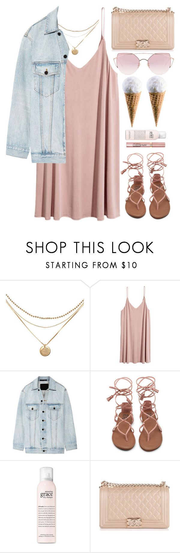 """""""Ice Cream Day"""" by monmondefou ❤ liked on Polyvore featuring Alexander Wang, philosophy, Chanel, LMNT, L'Oréal Paris and Pink"""