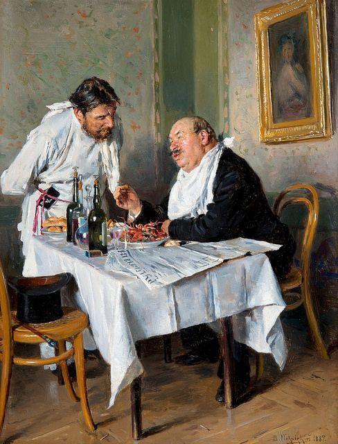 Vladimir Egorovich Makovski - In the Tavern [1887]: