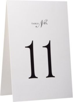 Mark tables at your next big event with these stylish table number tents. Includes preprinted table numbers 11 through 20, plus two blank table tents. Printed in black ink on beautiful cream paper. Fr