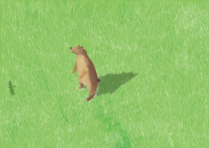 "草原 ""Grassland"" #illustration #animal"