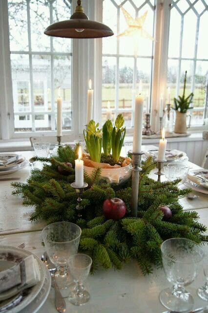 Winterdeko mit tanne ideen rund ums haus for Tischdekoration weihnachten dekoration