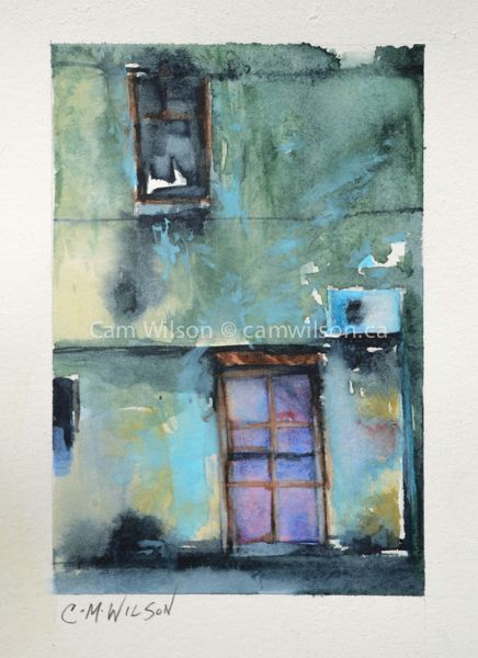 The Purple Door - Watercolour on Arches New loose style www.camwilson.ca