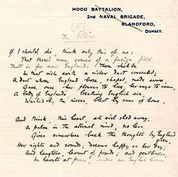 The Soldier - by Rupert Brooke, 1914.