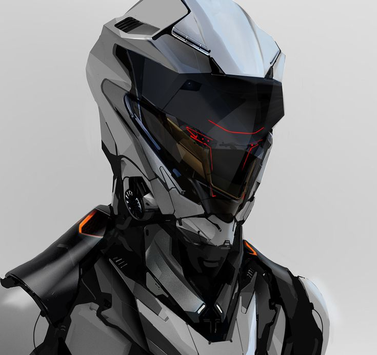 ArtStation - robot head sketch 112317, Aaron de Leon