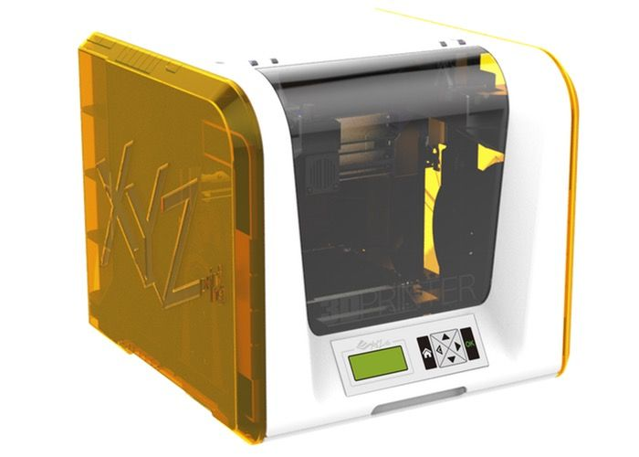 XYZPrinting da Vinci Junior FFF 3D Printer Unveiled At CES 2015 For $349 - The price point makes the da Vinci Junior 3D printer makes it one of the most affordable 3D printers on the market and provides a desktop 3D printing solution for home, education and small businesses. Specifications of the da Vinci Junior 3D printer include a build size of 150 x 150 x 150 mm together with HFC technology used to detect low filament and SD Card support enabling the printer to be used standalone.