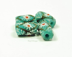 Hand Painted, Fair Trade, Recycled Glass Beads from the Krobo Tribe in Ghana, Africa $3.75