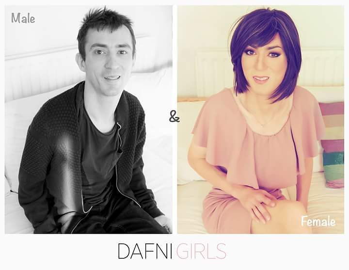 BEFORE / AFTER Thank you for making possible the VISIBILITY and importance of all the work we do taking care of the image of a CROSSDRESSER. #dafnigirls #crossdressing #transgender #maletofemale