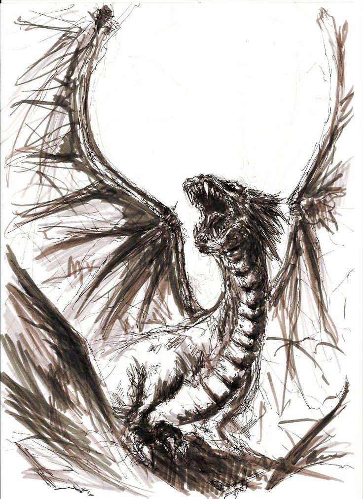 Dragon (Marker & Pen Sketch)