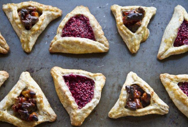 Hamantaschen rasberry-tahini  & honey-nuts www.douzebiscuits.com