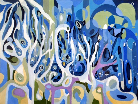 Patricia Mado  Kind of Blue - 2012  Oil on Canvas  100 x 75 cm