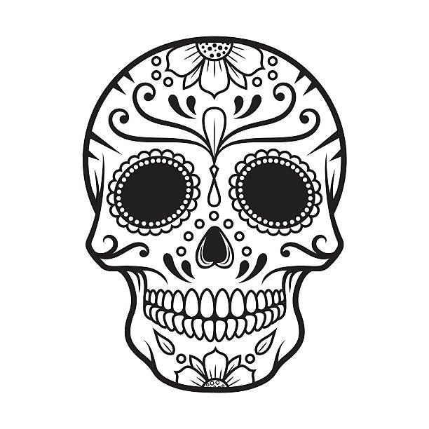 Image Result For Dia De Los Muertos Clipart Black And White