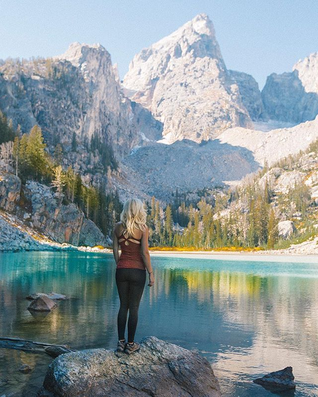 I've never seen a prettier place than Jackson Hole, Wyoming during fall colors  Put it on your list if you haven't seen it.  Model: @jessgrambau